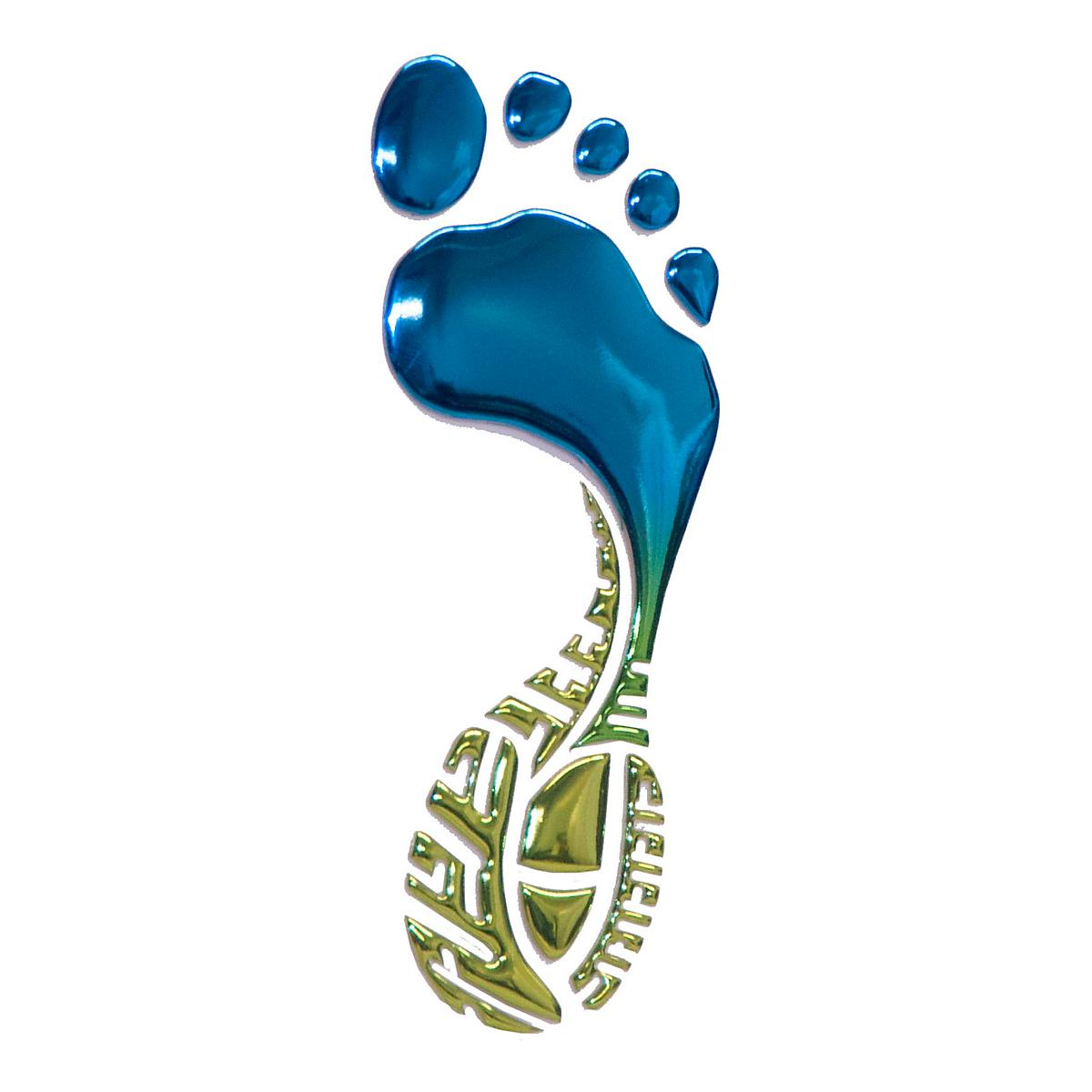 Glyphix Icons�Footprint 3D Chrome Emblem