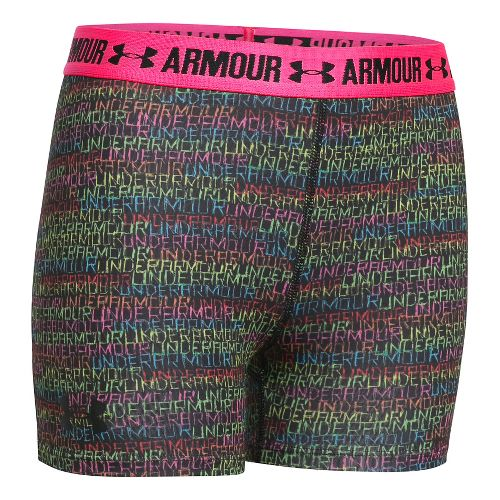 Under Armour Girls 3'' Printed Armour Shorty Compression & Fitted Shorts - Venetian Blue/Navy ...