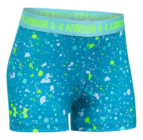 Under Armour Girls 3'' Printed Shorty Compression & Fitted Shorts - Blue Shift YL