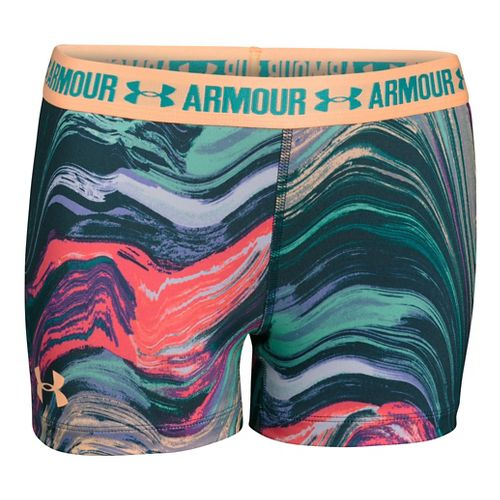 Under Armour Girls 3'' Printed Armour Shorty Compression & Fitted Shorts - Pine Shadow YXL ...