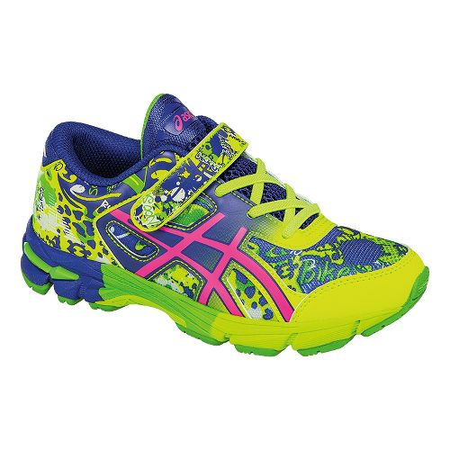 Kids ASICS GEL-Noosa Tri 11 Running Shoe - Safety Yellow/Blue 1Y