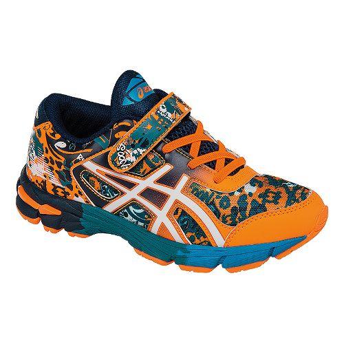 Kids ASICS GEL-Noosa Tri 11 Running Shoe - Orange/Navy 11C
