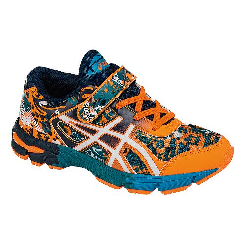 Kids ASICS GEL-Noosa Tri 11 Running Shoe - Orange/Navy 2Y