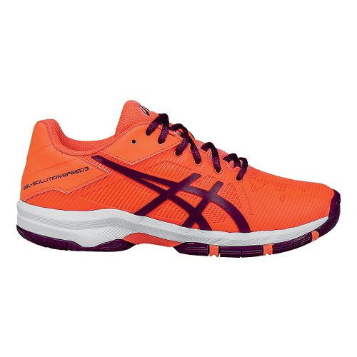 Kids ASICS GEL-Solution Speed 3 Court Shoe - Coral/Plum 6.5Y