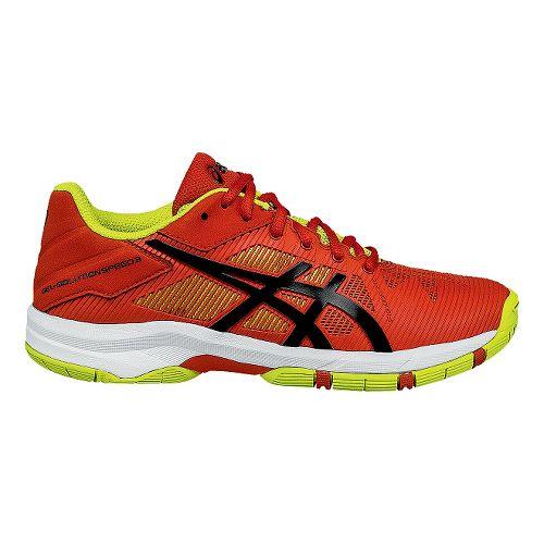 Kids ASICS GEL-Solution Speed 3 Court Shoe - Orange/Lime 3.5Y