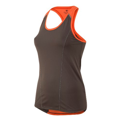 Womens Pearl Izumi Pursuit Singlet Sleeveless & Tank Technical Tops - Grey/Clementine XL