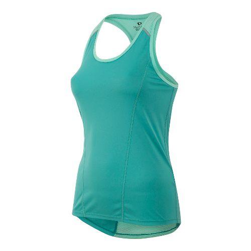 Womens Pearl Izumi Pursuit Singlet Sleeveless & Tank Technical Tops - Green/Aqua S