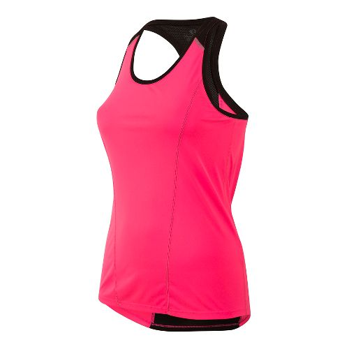 Womens Pearl Izumi Pursuit Singlet Sleeveless & Tank Technical Tops - Pink/Black L