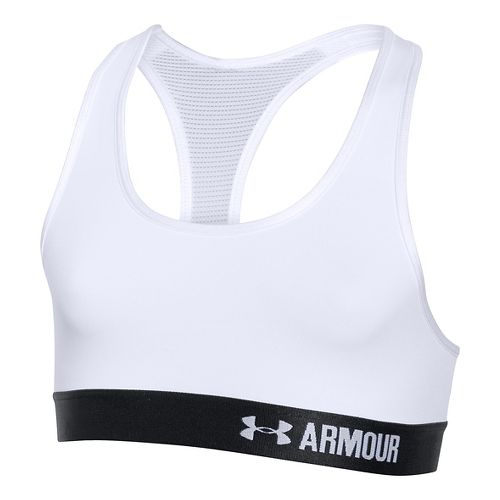 Under Armour Girls Armour Sports Bras - White YXS
