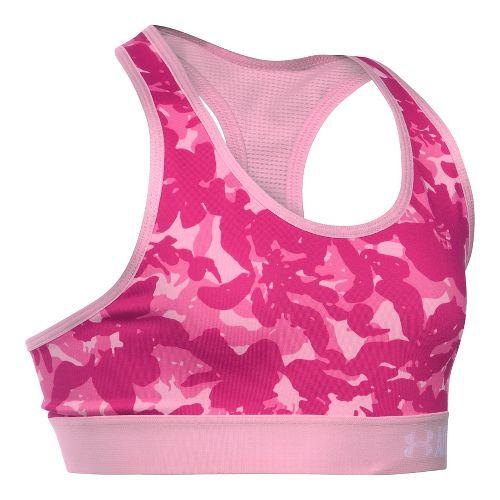 Under Armour Girls Novelty Armour Sports Bras - Pink YXL