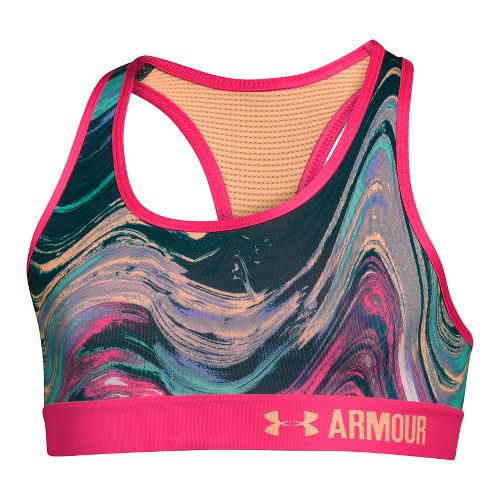 Under Armour Girls Novelty Armour Sports Bras - Pine Shadow YL