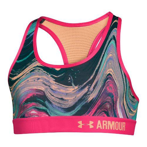 Under Armour Girls Novelty Armour Sports Bras - Pine Shadow YXL