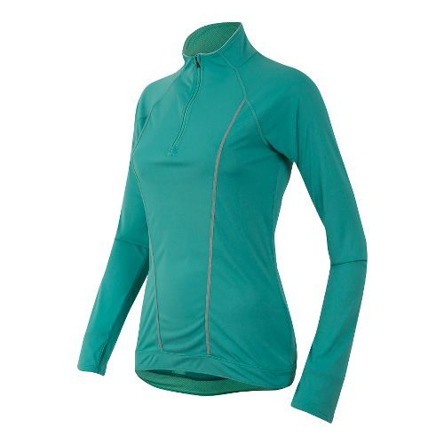 Womens Pearl Izumi Pursuit Long Sleeve Technical Tops - Green/Aqua M