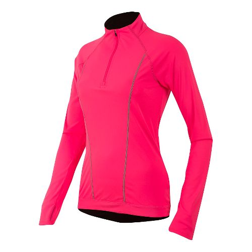 Womens Pearl Izumi Pursuit Long Sleeve Technical Tops - Pink/Black XL