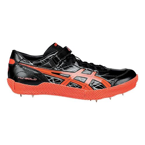 ASICS High Jump Pro (L) Track and Field Shoe - Black/Coral 9.5