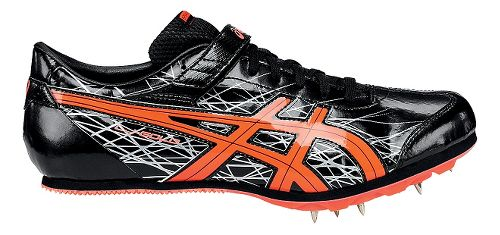 ASICS Long Jump Pro Track and Field Shoe - Black/Coral 9