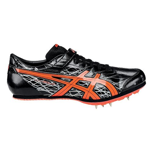 ASICS Long Jump Pro Track and Field Shoe - Black/Coral 8