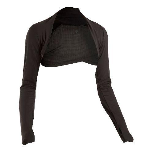 Womens Pearl Izumi Escape Shrug Long Sleeve Technical Tops - Black XL