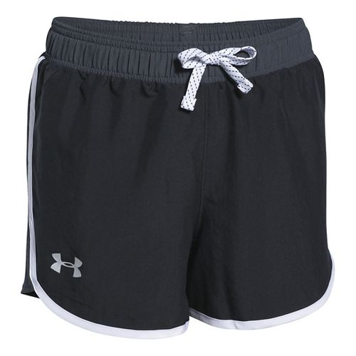 Under Armour Girls Fast Lane Unlined Shorts - Black YL