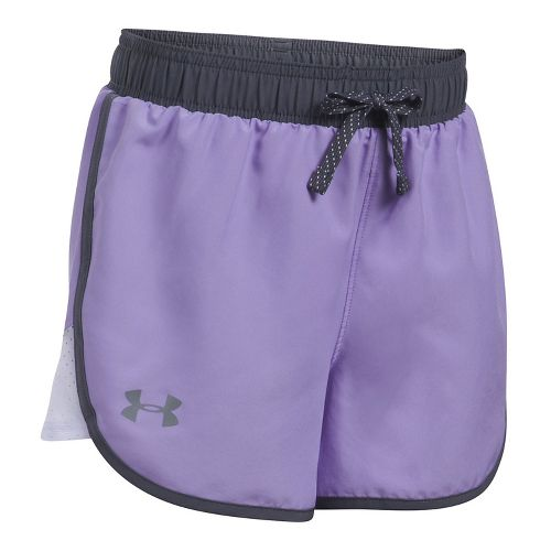 Under Armour Girls Fast Lane Unlined Shorts - Dark Lavender/Ice YXL