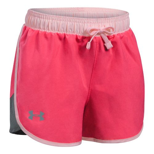 Under Armour Girls Fast Lane Unlined Shorts - Gala/Rhino Grey YXS