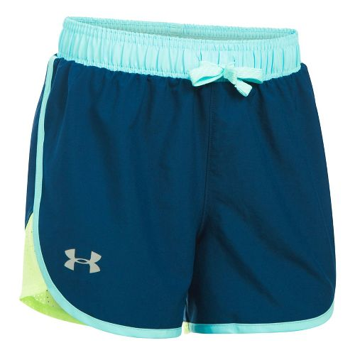 Under Armour Girls Fast Lane Unlined Shorts - Navy/Moonlight YM