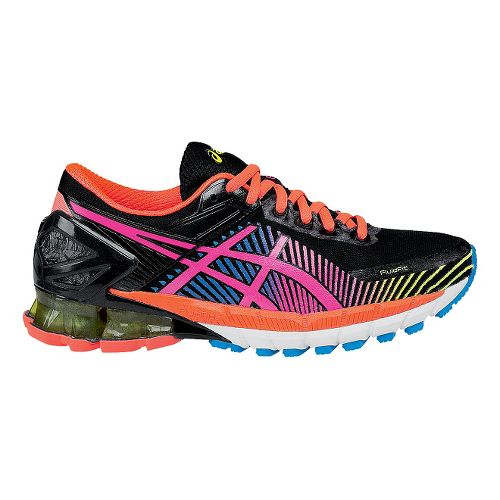 Womens ASICS GEL-Kinsei 6 Running Shoe - Black/Pink 6.5