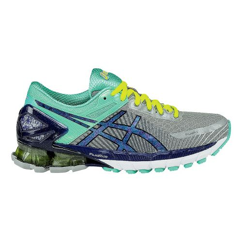 Womens ASICS GEL-Kinsei 6 Running Shoe - Grey/Mint 10.5