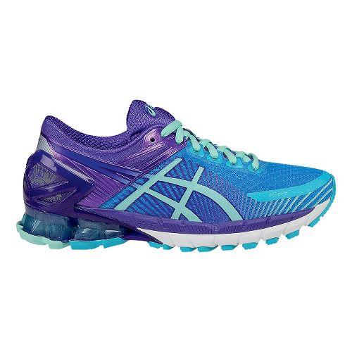 Womens ASICS GEL-Kinsei 6 Running Shoe - Mint/Purple 7