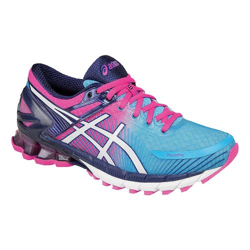 Womens ASICS GEL-Kinsei 6 Running Shoe - Blue/Pink 9.5