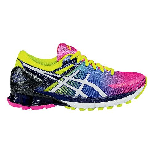 Womens ASICS GEL-Kinsei 6 Running Shoe - Pink/Yellow 10