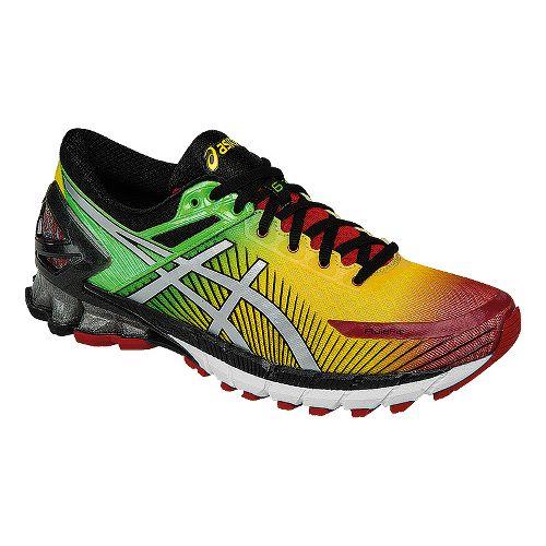 Mens ASICSGEL-Kinsei 6 Running Shoe - Red/Yellow 9.5