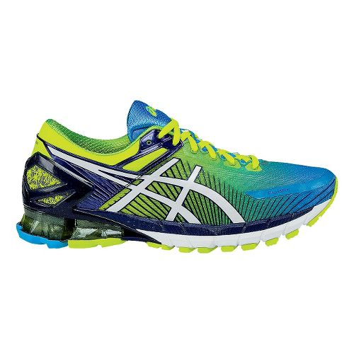 Mens ASICSGEL-Kinsei 6 Running Shoe - Yellow/Blue 7.5