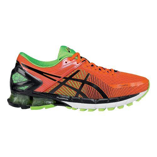 Mens ASICSGEL-Kinsei 6 Running Shoe - Orange/Black 8.5