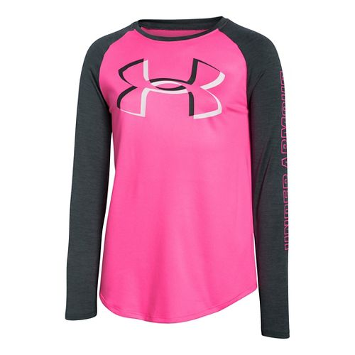 Kids Under Armour�Girls Optic Big Logo Longsleeve T