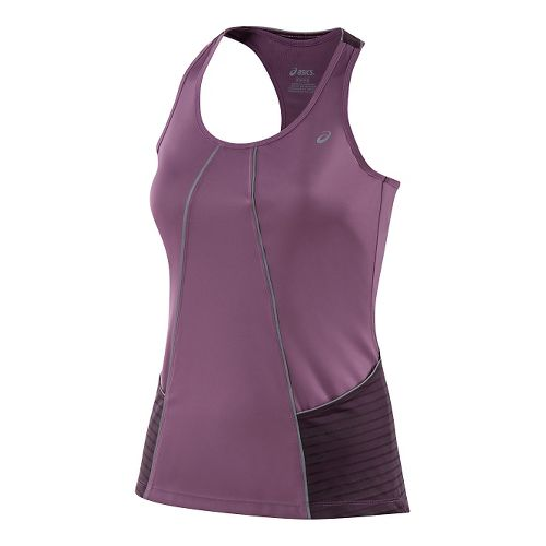 Womens ASICS Lite-Show Sleeveless & Tank Technical Tops - Grapeade M