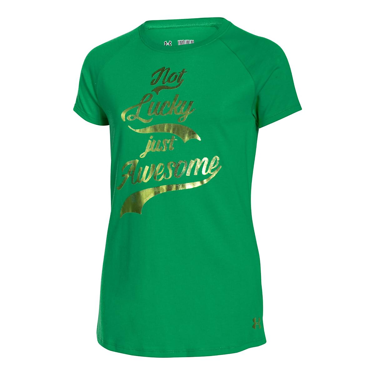 Kids Under Armour�Girls Not Lucky Just Awesome Shortsleeve