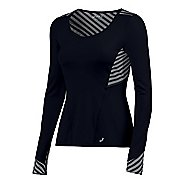 Womens ASICS Lite-Show Long Sleeve Technical Tops