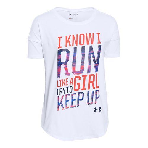 Kids Under Armour�Girls Girls' Run Shortsleeve T