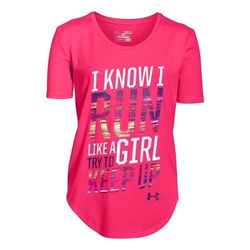 Kids Under Armour�Girls Run Shortsleeve T