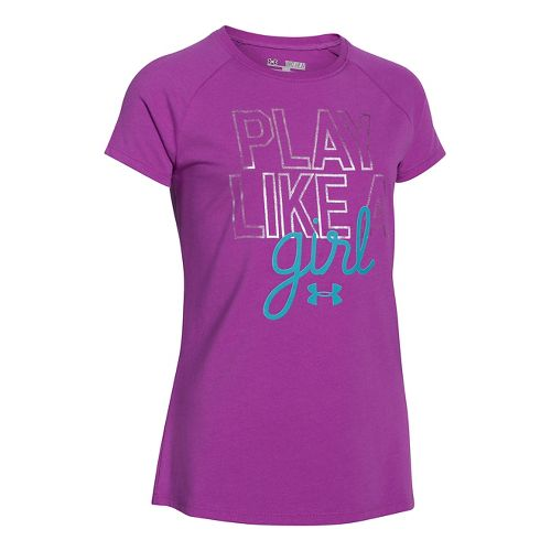 Kids Under Armour�Girls Play Like A Girl Shortsleeve T