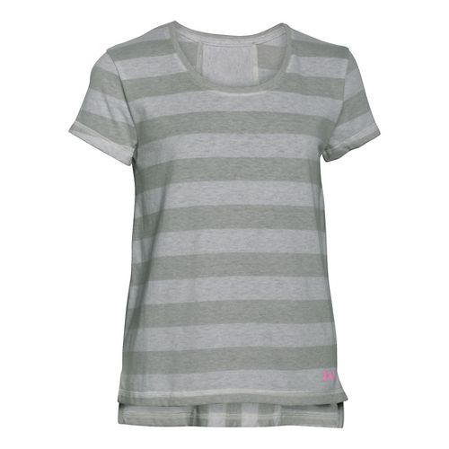 Under Armour Girls Finale Short Sleeve Technical Tops - Whisper Grey YXL
