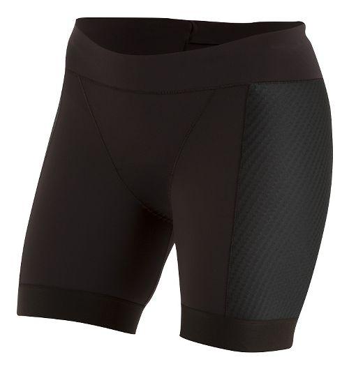 Womens Pearl Izumi ELITE Pursuit Tri Half Unlined Shorts - Black XXL