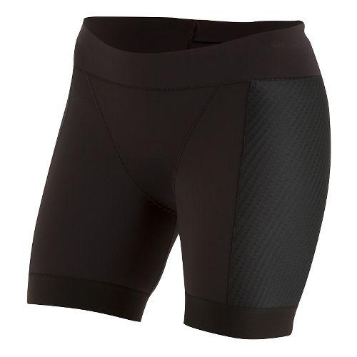 Womens Pearl Izumi ELITE Pursuit Tri Half Unlined Shorts - Black L