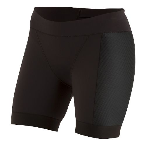 Womens Pearl Izumi ELITE Pursuit Tri Half Unlined Shorts - Black XS