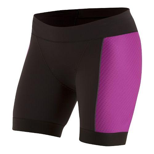 Womens Pearl Izumi ELITE Pursuit Tri Half Unlined Shorts - Black/Purple Wine M
