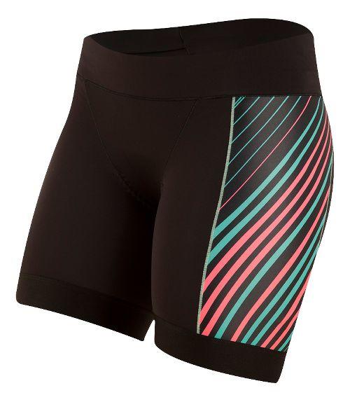 Womens Pearl Izumi ELITE Pursuit Tri Half Unlined Shorts - Black/Atomic Red XS