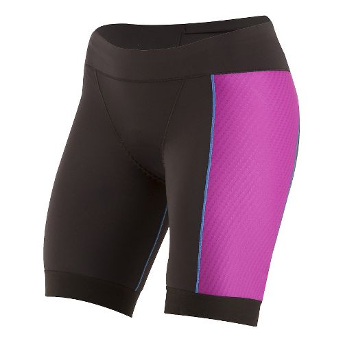 Womens Pearl Izumi ELITE Pursuit Tri Unlined Shorts - Black/Purple Wine XS