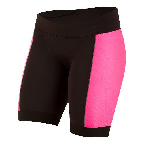Womens Pearl Izumi ELITE Pursuit Tri Unlined Shorts - Black/Screaming Pink S