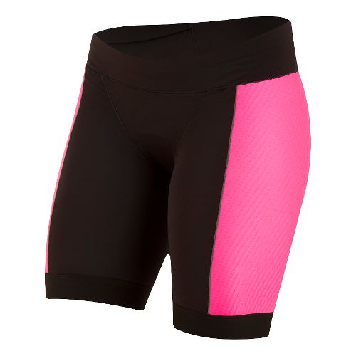 Womens Pearl Izumi ELITE Pursuit Tri Unlined Shorts - Black/Screaming Pink XS